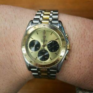Tudor by Rolex Monarch Chronograph 18k Gold Watch